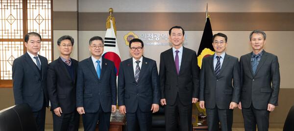 인천지방경찰청 신임 부장단 접견