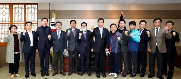 최장혁 신임행정부시장 접견