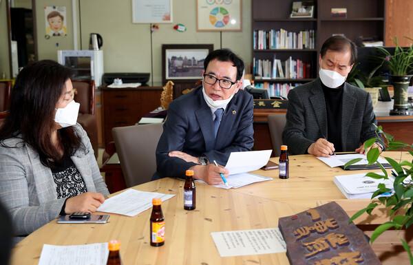 예일고등학교 학부모 간담회 및 민원현장 방문
