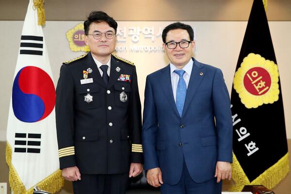 김준태 인천공단소방서장 접견