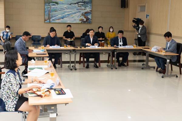 교육위원회 기관방문(교직원수련원, 교육과학정보원, 교육연수원)